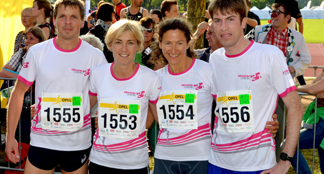 GRAFIKWERK 21 - Team beim Firmenlauf in Rüsselsheim
