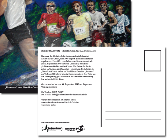 Postkarte Runners - Benefizaktion
